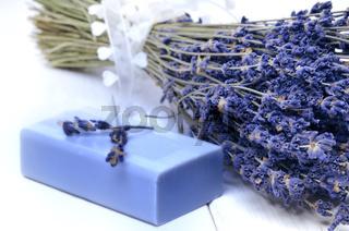Lavendel und Seife