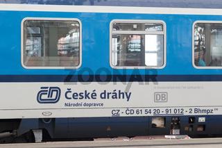 Tschechischer Eurocity in Dresden