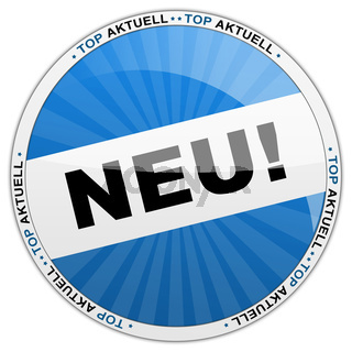 Neu Button blau
