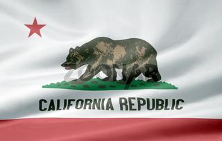 Flagge von Kalifornien - USA