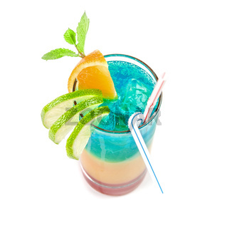Alcoholic blue cocktail