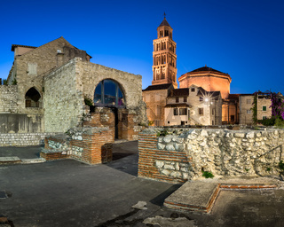Emperor Diocletian Palace in the Evening, Split, Dalmatia, Croatia