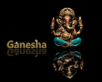 God of Ganesha on a black background