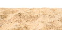 Sand on white