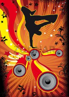 Retro Breakdancer