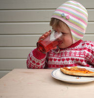 Child having lunch