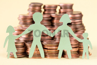 Family savings or investment concept