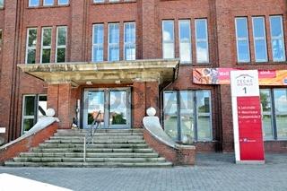 Eingang Lohnhalle Zeche Westfalen Ahlen Deutschland