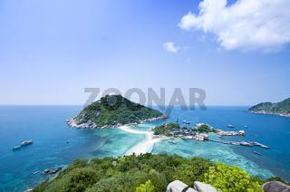 Two idylic islands Ko Nang Yuan in Thailand