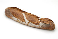 Bread over white background