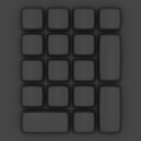 Topview of a blank black keypad