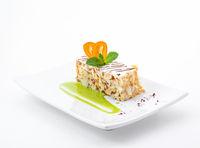 Delicious slice of white cake