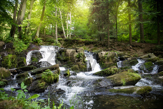 Wasserfall im Harz Selkewasserfall