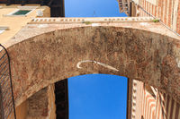 Arco della Costa arch with whale rib in Verona