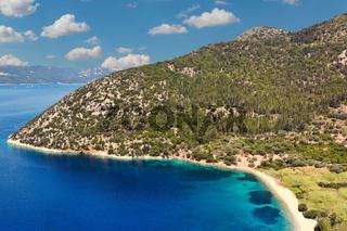 Polis beach in Ithaki, Greece