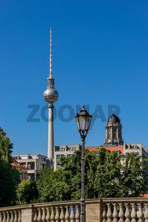 Berliner Skyline vom Museumshafen