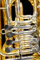 Tuba, Drehventile, Detailaufnahme