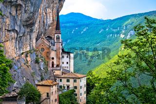 Madonna della Corona church on the rock