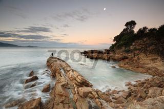 Dusk light at Bermagui, south coast Australia