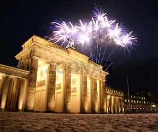 Feuerwerk am Brandenburger Tor