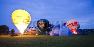 Ballonglühen von Heißluftballons