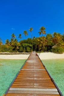 Jetty and beach at Maldives