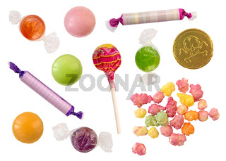 Isolated Candy Selection