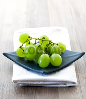 Weintrauben auf Schale / grape on blue bowl