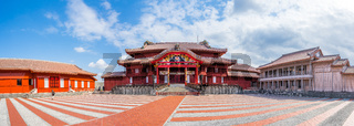 Panorama view of Shuri Castle in Naha, Okinawa, Japan
