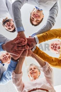Team macht Übung für die Teamentwicklung