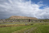 Traditionell gebautes Blackhouse, Isle of Lewis
