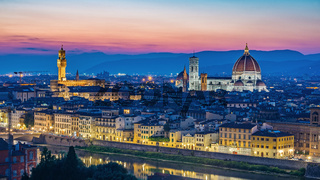 Florence city skyline, Florence, Italy