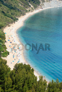 Summer Adriatic sea Mezzavalle beach