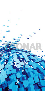 3D Background - Blue Cyberspace