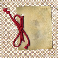 Old paper with rope on abstract background