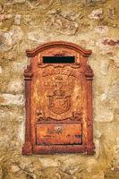 old rusty mailbox