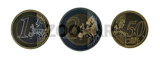 Set of euro coins