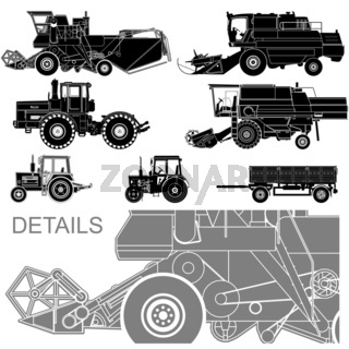 agricultural vehicles set