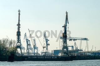 Blohm & Voss-Werft in Hamburg
