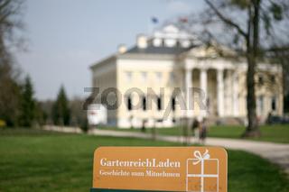 Souvenirgeschäft am Schloss in Woerlitz