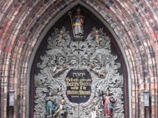 Westportal der St. Nikolai Kirche in Stralsund