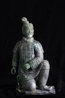 Chinese ancient jade carving art of Terra-cotta warrior