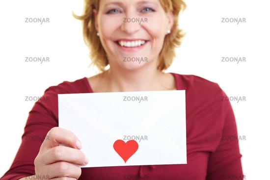 Liebesbrief halten