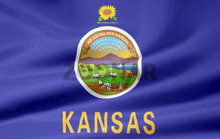 Flagge von Kansas - USA