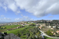 Panorama Sicilian hinterland in December