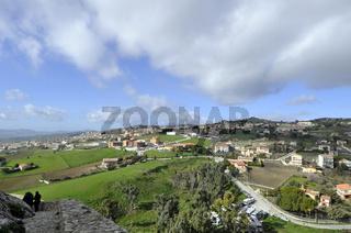 Panorama Sicilian hinterland in December