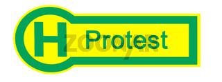 Haltestelle Protest