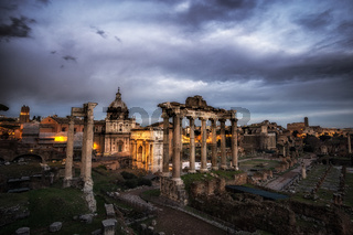Roman Forum at Sunset