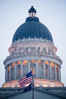 Close Vertical Composition Capital Dome Salt Lake City Utah