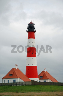 Leuchtturm von Westerhever, Deutschland, Schleswig Holstein, St. Peter-Ording, Westerhever / Lighthouse from Westerhever, Germany, Schleswig Holstein, St. Peter-Ording, Westerhever